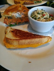 Quinoa Burger & 3-Cheese Grilled Cheese @ The Public Kitchen & Bar